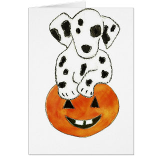 Dalmatian Pumpkin Greeting Card