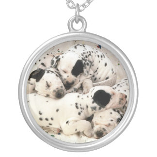 Dalmatian Puppies Necklace