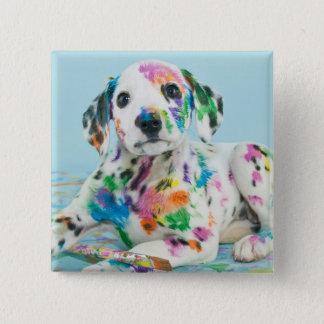 Dalmatian Puppy 15 Cm Square Badge