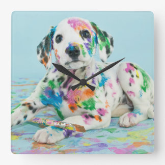 Dalmatian Puppy Clock