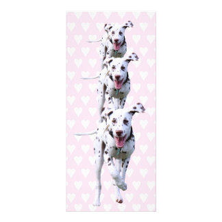 Dalmatian puppy dog bookmark gift idea rack card