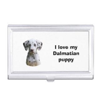 Dalmatian puppy dog photo business card holder