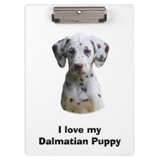 Dalmatian puppy dog photo clipboard