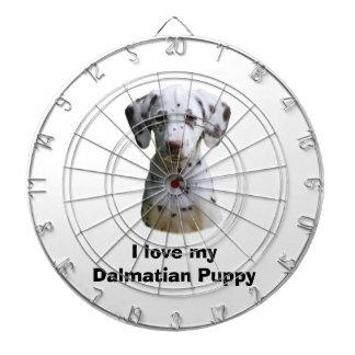 Dalmatian puppy dog photo dartboard