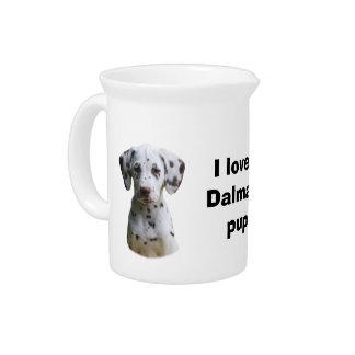 Dalmatian puppy dog photo pitcher