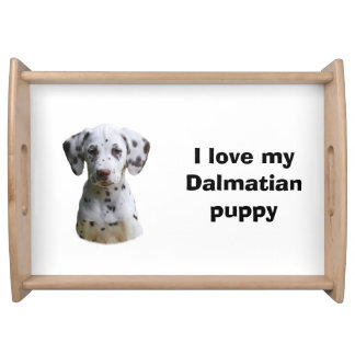 Dalmatian puppy dog photo serving tray