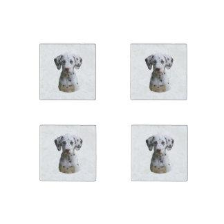 Dalmatian puppy dog photo stone magnet