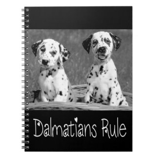 Dalmatian Puppy Dog Rules - Spotted Fire Dog Spiral Notebook