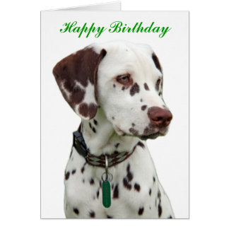 Dalmatian puppy happy birthday greeting card