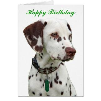 Dalmatian puppy happy birthday greeting card