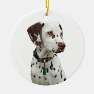 Dalmatian puppy ornament, gift idea round ceramic decoration
