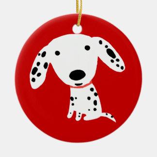 Dalmatian Puppy Round Ceramic Decoration