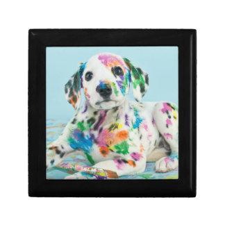 Dalmatian Puppy Small Square Gift Box