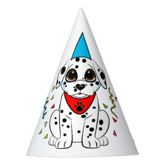 Dalmatian Puppy with the Heart-Shaped Nose Party Hat