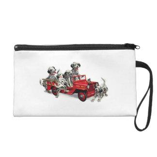 Dalmatian Pups & Fire Truck Wristlet