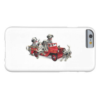Dalmatian Pups with Fire Truck Barely There iPhone 6 Case