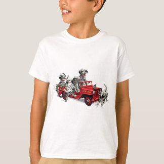 Dalmatian Pups with Fire Truck T-Shirt