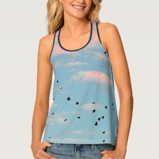 Dalmatian Sky Print Tank Top