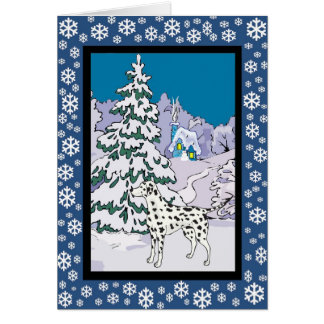 Dalmatian Snowy Winter Card