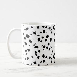 Dalmatian Spots, Dalmatian Print, Dalmatian Fur Basic White Mug