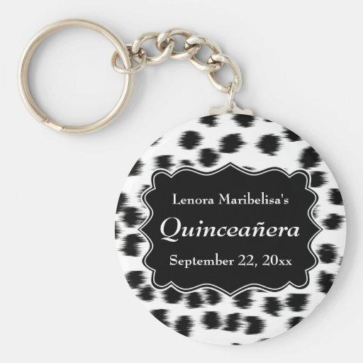 Dalmatian Spots Pattern Print Quinceanera Keychains