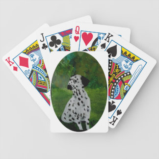 Dalmatian Spotty Dog Art Bicycle Playing Cards