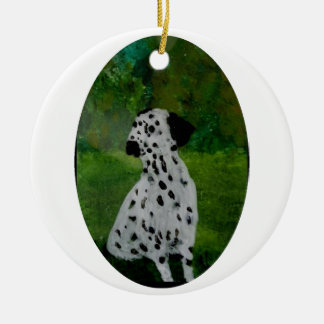 Dalmatian Spotty Dog Art Christmas Ornament