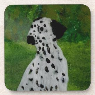 Dalmatian Spotty Dog Art Coaster