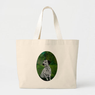 Dalmatian Spotty Dog Art Large Tote Bag