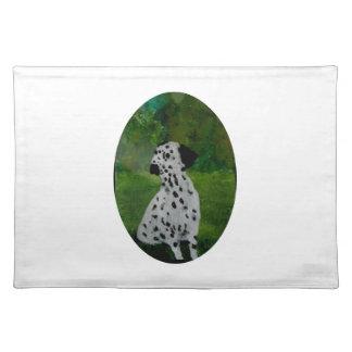Dalmatian Spotty Dog Art Placemat
