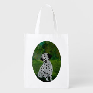 Dalmatian Spotty Dog Art Reusable Grocery Bag