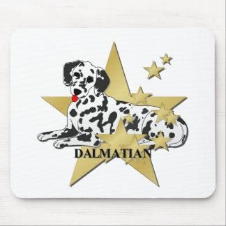 Dalmatian Stars Mouse Pad