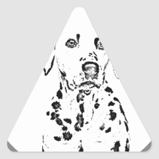 """Dalmatian"" Triangle Sticker"