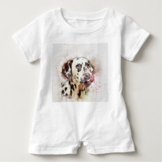 Dalmatian Watercolor Baby Bodysuit