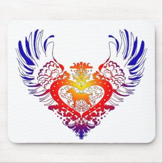 Dalmatian Winged Heart Mousemat