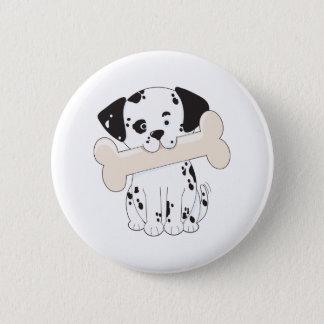 Dalmatian with Bone 6 Cm Round Badge