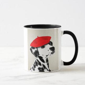 Dalmatian With Red Beret Mug