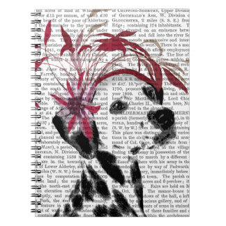 Dalmatian With Red Fascinator Notebooks