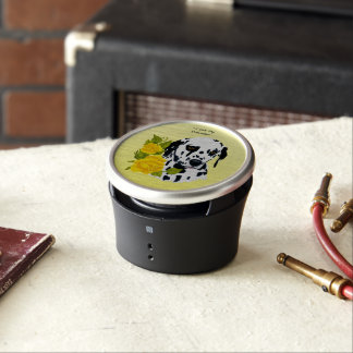 Dalmatian with Yellow Roses Bluetooth Speaker