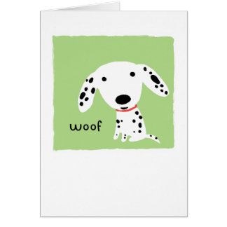 Dalmatian Woof Note Card