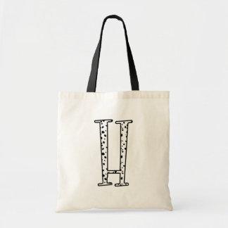 Dalmatians Dots H Tote Bag