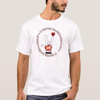 DALMATIANS - I ASL LOVE SIGN ORANGE DALMATIANS T-Shirt