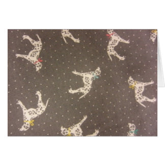 Dalmatians with Bows Card