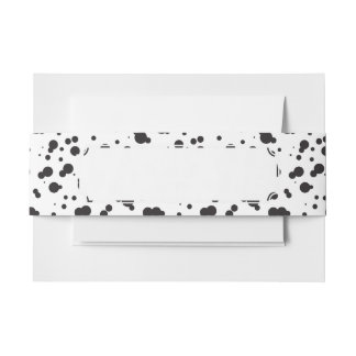 Dalmatine Dots Pattern Invitation Belly Band