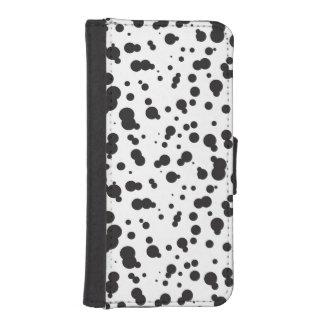 Dalmatine Dots Pattern iPhone SE/5/5s Wallet Case