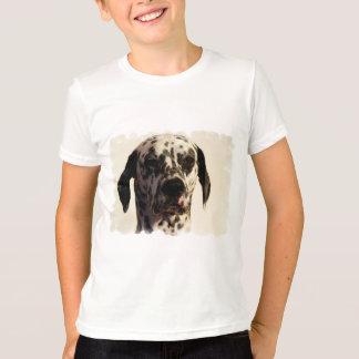 Dalmation Dog Kid's Ringer T-Shirt