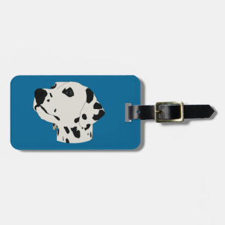 dalmation luggage tag
