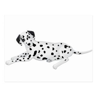 Dalmation Pup Postcard