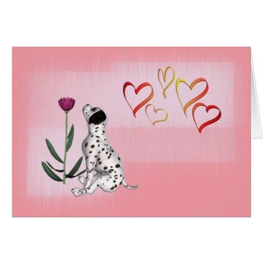 Dalmation Rose & Hearts-DIY Card