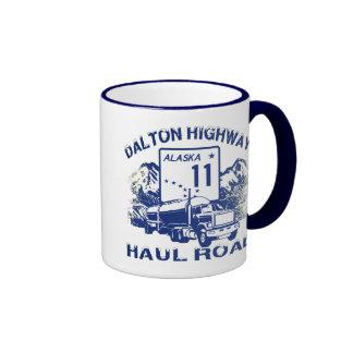 DALTON HIGHWAY HAUL ROAD RINGER COFFEE MUG
